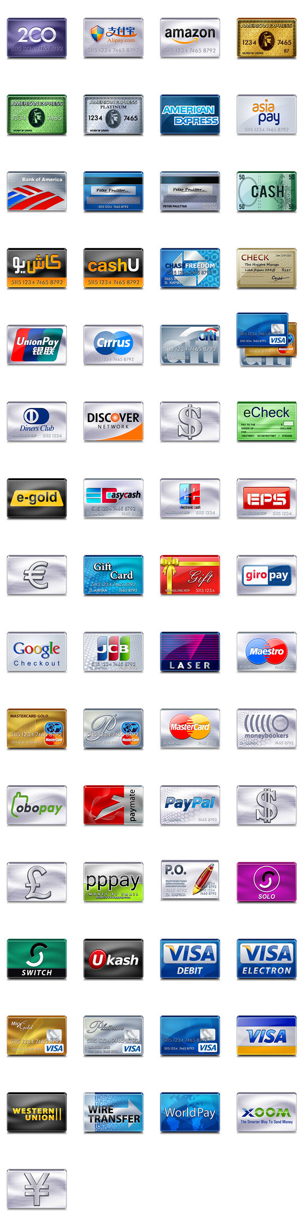 credit card icons 128px
