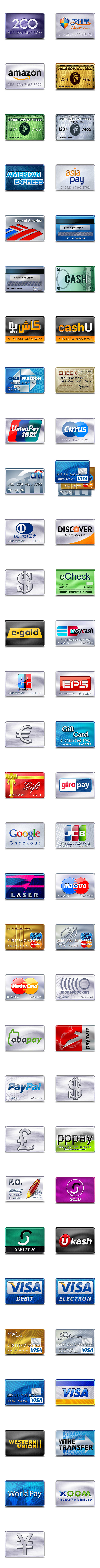 credit card icons 256px