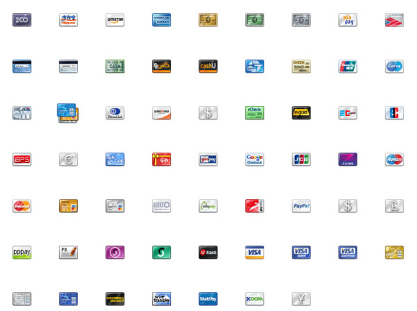 credit card icons 32px