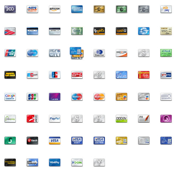 credit card icons 48px