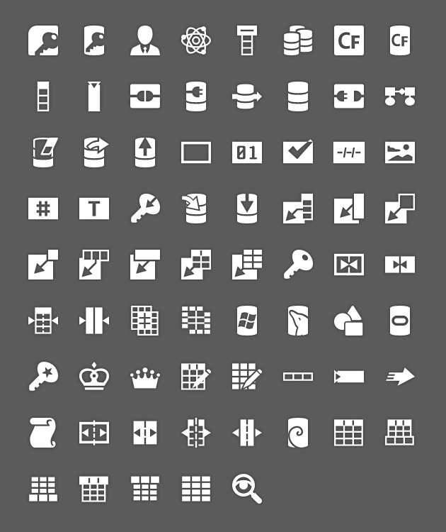 android icons database tab selected hdpi