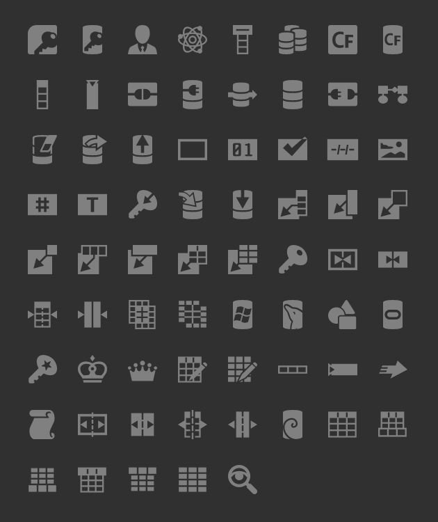 android icons database tab unselected hdpi