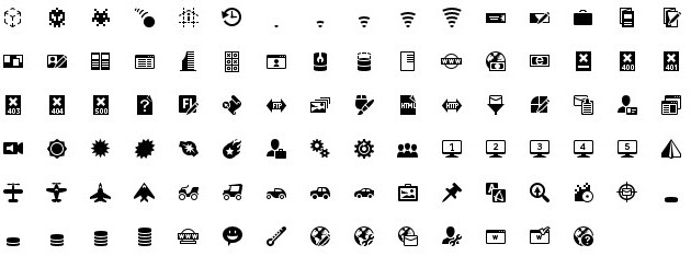 iphone icons web design 20px