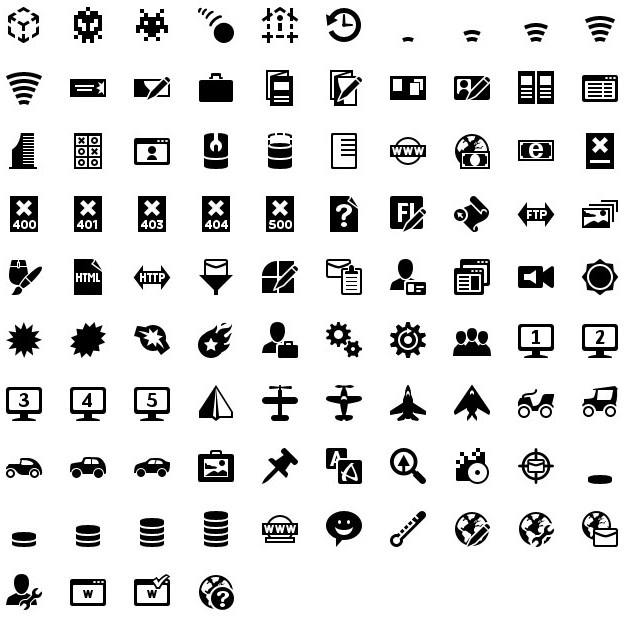 iphone icons web design 40px