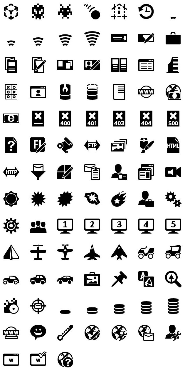 iphone icons web design 60px