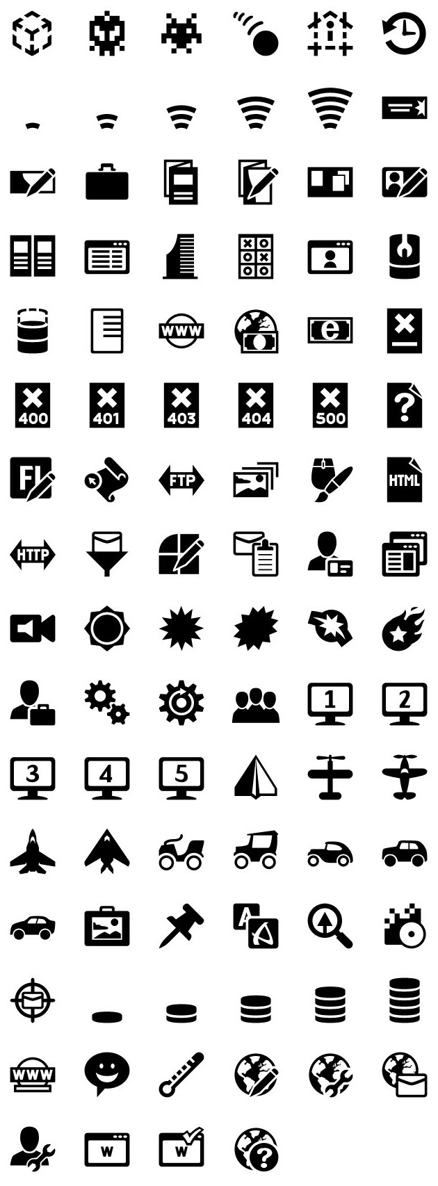 iphone icons web design 72px