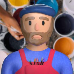 painter-artist-colorman-colourman-background_icon