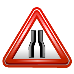 road_narrows_sign_icon