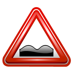 uneven_road_sign_icon