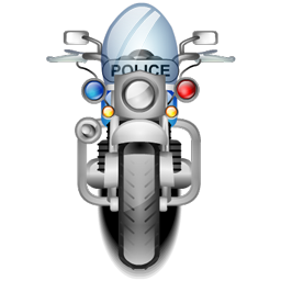 Police Bike Icons Iconshock