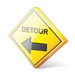 detour_left_sign_icon