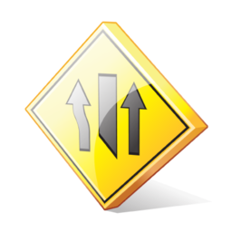 left_lane_closed_ahead_icon