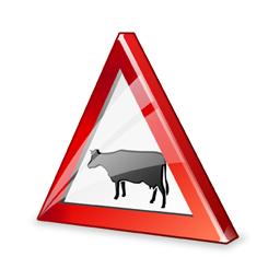 sign_cattle_crossing_icon