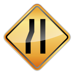 one_lane_sign_icon