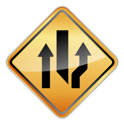 right_lane_closed_ahead_icon
