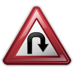 hairpin_turn_sign_icon