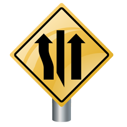left_lane_closed_ahead_icon