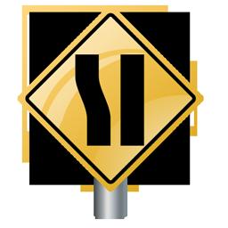 one_lane_sign_icon