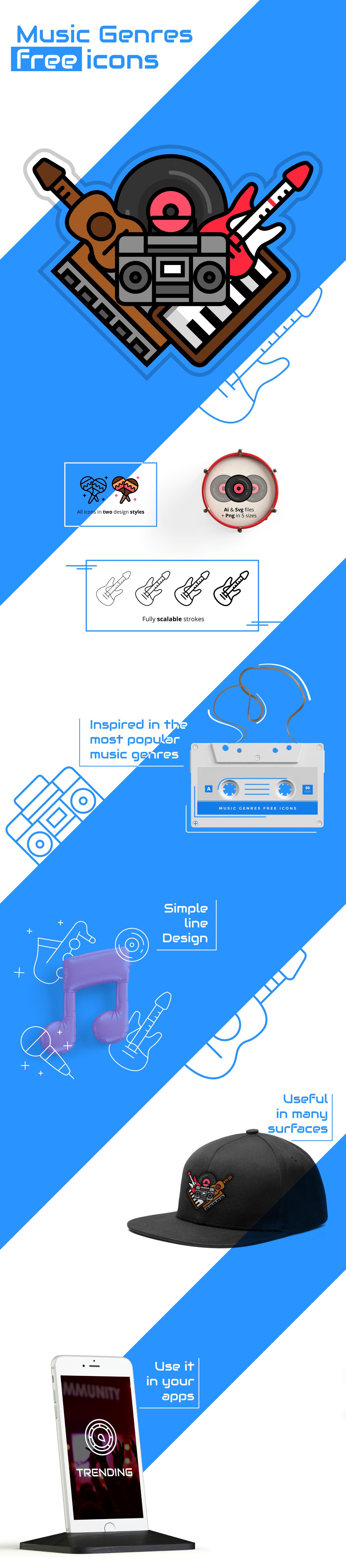 music_genres_free_icon_set