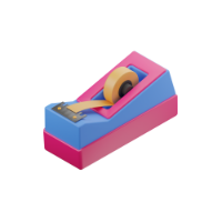 adhesive tape holder 3d icon small