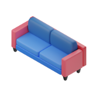 armchair for two 3d icon mall