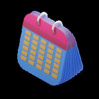calendar 3d icon small