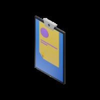 clipboard 3d icon small