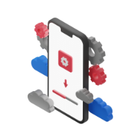 configuration of a telephone 3d icon small