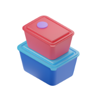 container on top of a container 3d icon small