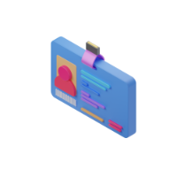 credential 3d icon small