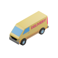 delivery car 3d icon small