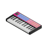 music keyboard 3d icon small