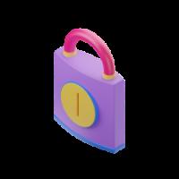 padlock 3d icon small
