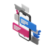 phone conversation 3d icon small