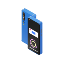 phone from front and back 3d icon small