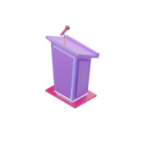 podium for speeches 3d icon small