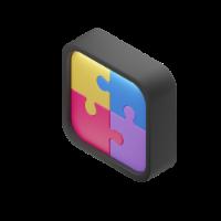 puzzle 3d icon small
