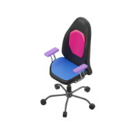 seat with wheels 3d icon small