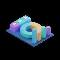 statistics 3d icon small