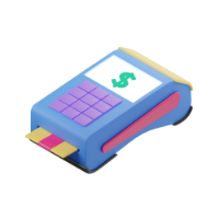 terminal point of sale 3d icon small