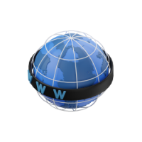 world wide web (www) 3d icon small
