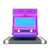 ambulance 3d icon small front