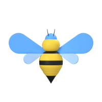bee 3d icon small front