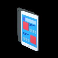 big phone 3d icon small