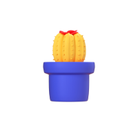 cactus 3d icon small front