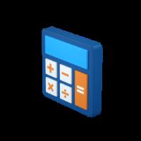 calculator 3d icon small