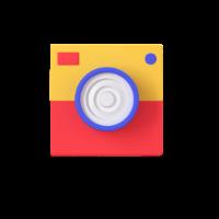 camera 3d icon 3 small front