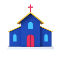 church 3d icon small front