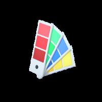 color palette 3d icon small