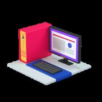 computer 3d icon small